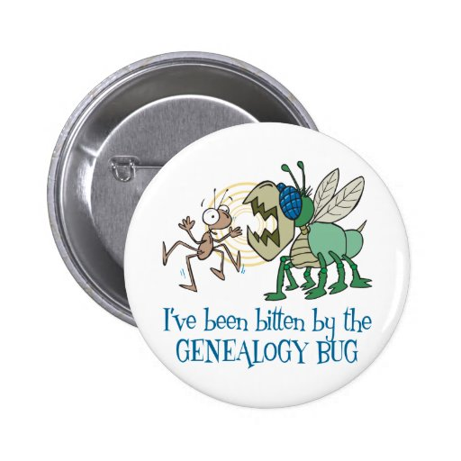 Mordido por el insecto de la genealogía pin redondo de 2 pulgadas