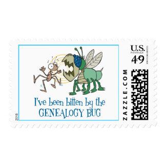 Mordido por el insecto de la genealogía sellos