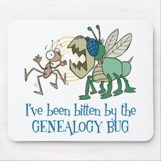 Mordido por el insecto de la genealogía tapetes de raton