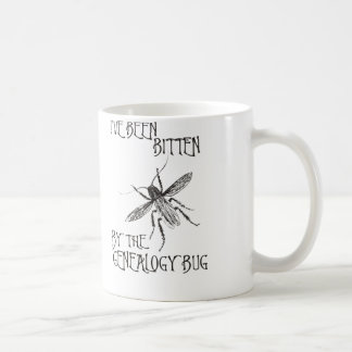 Mordido por el insecto de la genealogía taza de café