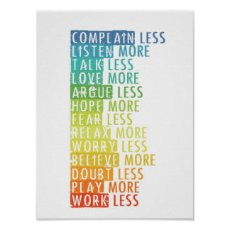 More and Less Poster