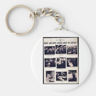 More And More Women Work On Aircraft Key Chain