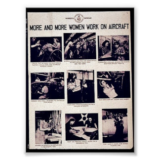 More And More Women Work On Aircraft Poster