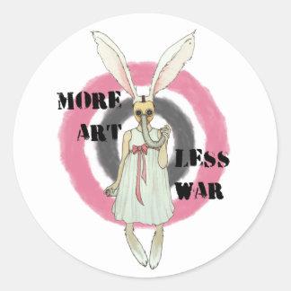 More Art Less War Classic Round Sticker