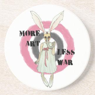 More Art Less War Sandstone Coaster