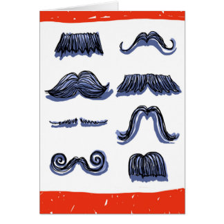 More Awesome than a Wall of Mustaches! Birthday Card