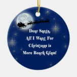 More Beach Glass Double-Sided Ceramic Round Christmas Ornament