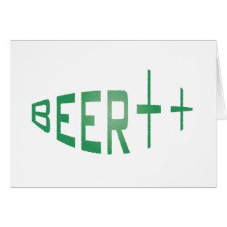 more beer greeting card