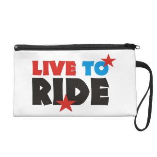 more biker wristlet purse