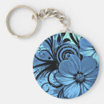 More blue flowers keychain