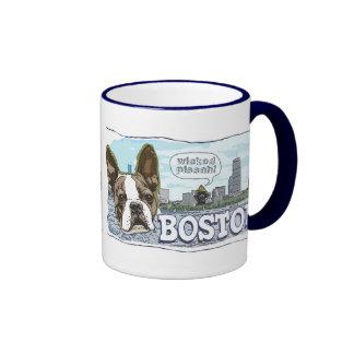 More Boston Terrier Wicked Pissah Gear Ringer Mug