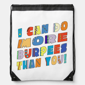 More Burpees Drawstring Backpack