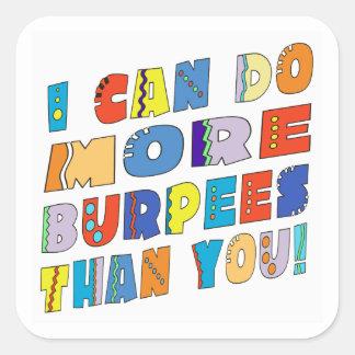 More Burpees Square Sticker