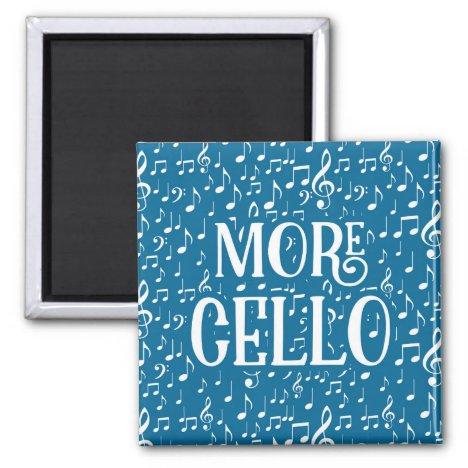 More Cello - Blue White Music Magnet