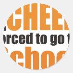 more cheerleader round sticker