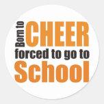 more cheerleader round stickers