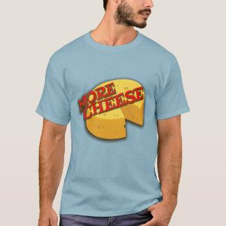 More cheese cheesy holed round graphic slogan tee