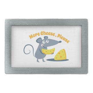 More Cheese, Please Rectangular Belt Buckle