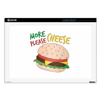 """More Cheese Please 17"""" Laptop Decals"""