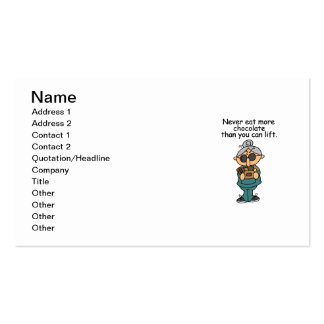 More Chocolate Humor Double-Sided Standard Business Cards (Pack Of 100)