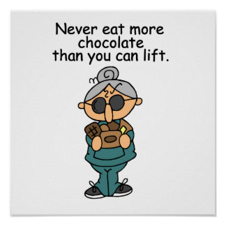 More Chocolate Humor Poster