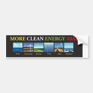 More Clean Energy ASAS WO Bumper Stickers