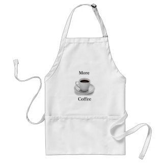 More coffee adult apron