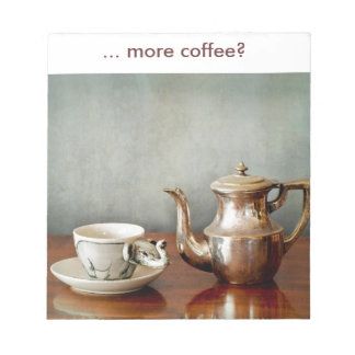 More coffee for your morning start up! notepad