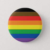More Color More Pride Rainbow Customizable LGBT Pinback Button