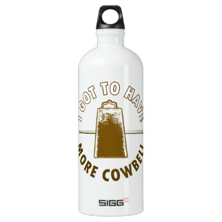 MORE COWBELL ALUMINUM WATER BOTTLE