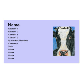More Cowbell Business Card