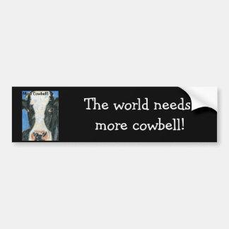 More Cowbell! Car Bumper Sticker
