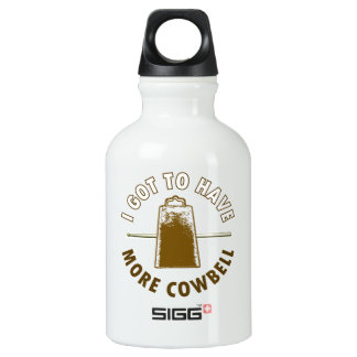 MORE COWBELL -funny/humor/music/rock music/drummer Aluminum Water Bottle