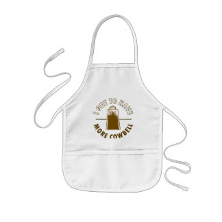 MORE COWBELL -funny humor music rock music drummer Aprons