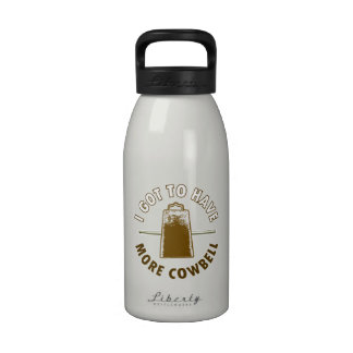 MORE COWBELL -funny/humor/music/rock music/drummer Drinking Bottle