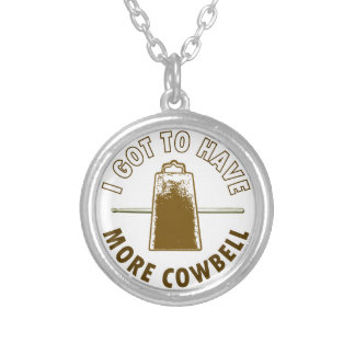 MORE COWBELL SILVER PLATED NECKLACE