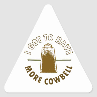 MORE COWBELL TRIANGLE STICKER