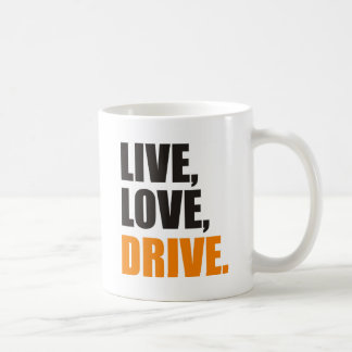 more driver classic white coffee mug