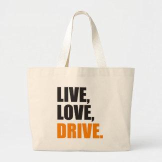 more driver large tote bag
