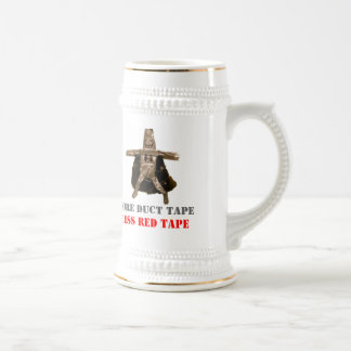 More Duct Tape Less Red Tape 18 Oz Beer Stein