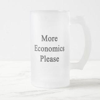 More Economics Please Glass Beer Mug