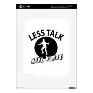 More Fencing less talk Decals For iPad 3