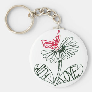 more flower with love key chain