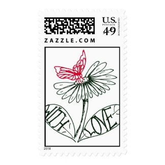 more flower with love stamp