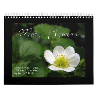 More Flowers Standard Ver. Choose-Your-Start-Date Calendar