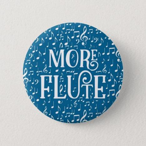 More Flute - Blue White Music Button