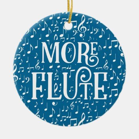 More Flute - Blue White Music Ceramic Ornament
