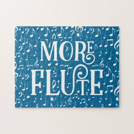 More Flute - Blue White Music Jigsaw Puzzle