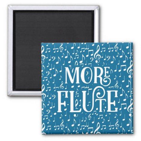 More Flute - Blue White Music Magnet