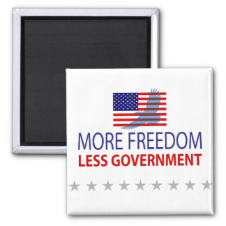 More Freedom Less Government 2 Inch Square Magnet